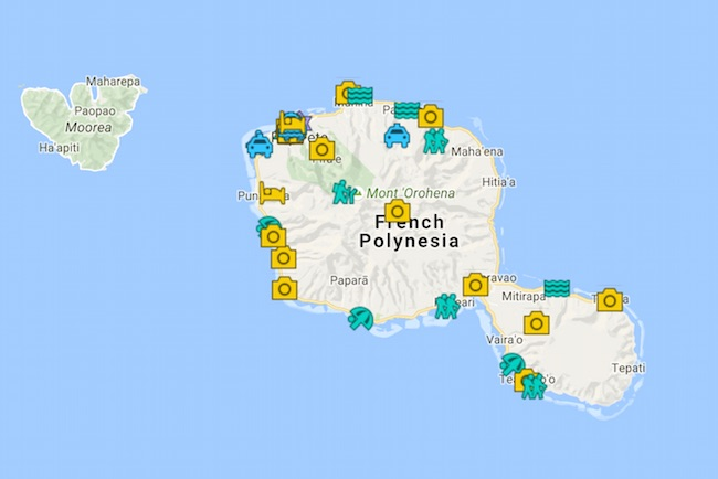 Tahiti Travel Guide Map - French Polynesia