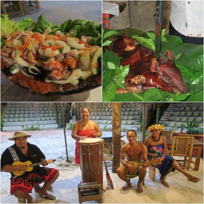 Tiki Village Moorea French Polynesia dinner
