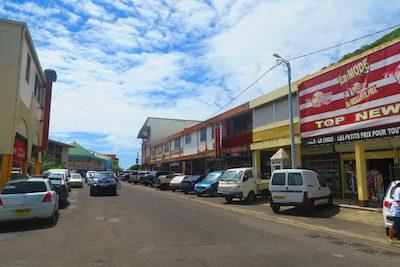 Uturoa main street raiatea french polynesia
