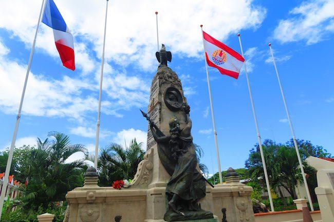War memorial Papeete Tahiti French Polynesia