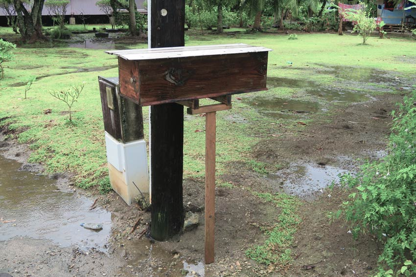 baguette mailbox in Tahaa French Polynesia
