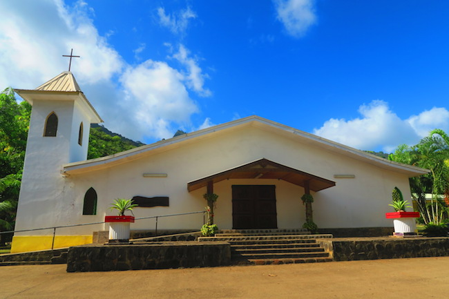 catholic church Atuona hiva oa marquesas islands