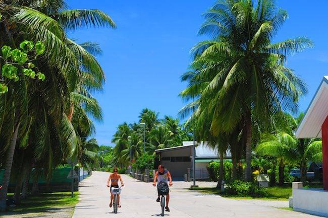 cycling fakarava atoll french polynesia