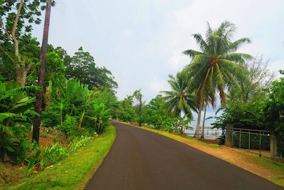 driving in tahaa french polynesia