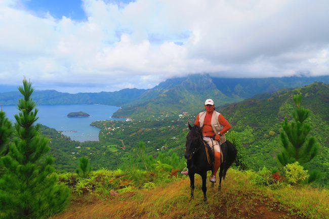 horseback riding Hamau Ranch Paco - hiva oa marquesas islands