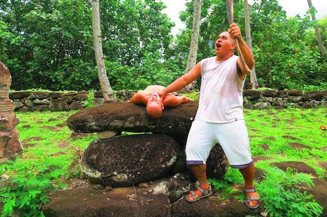 human sacrifice ceremony - nuku hiva marquesas islands