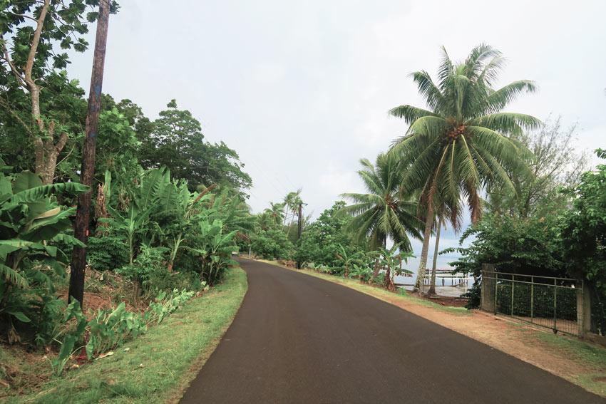 island road in Tahaa French Polynesia