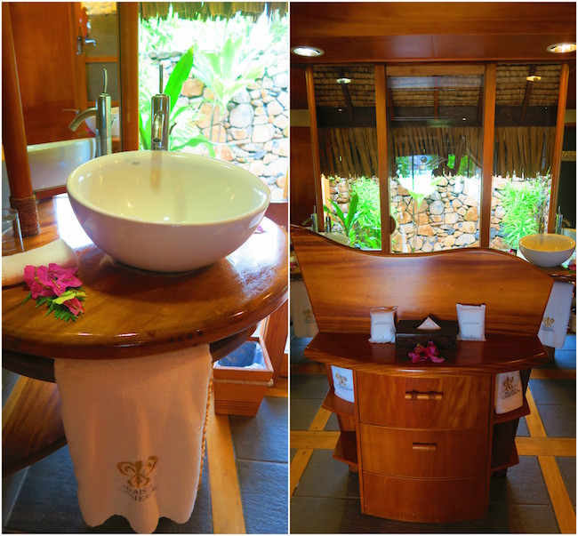 le tahaa luxury resort french polynesia shower