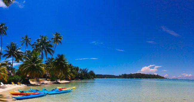 les tipaniers beach moorea panoramic view french polynesia