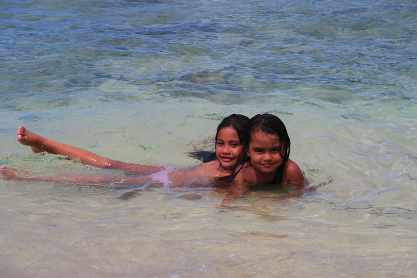 local girls in Anaho Village - Nuku Hiva Marquesas Islands French Polynesia