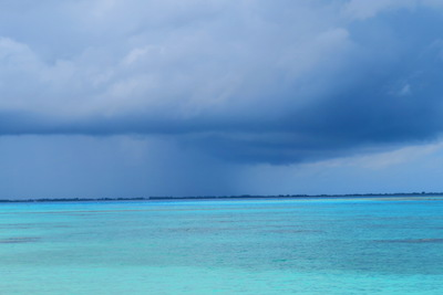 storm in fakarava atoll french polynesia