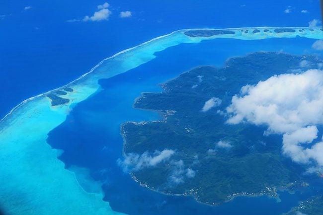 tahaa island french polynesia aerial view