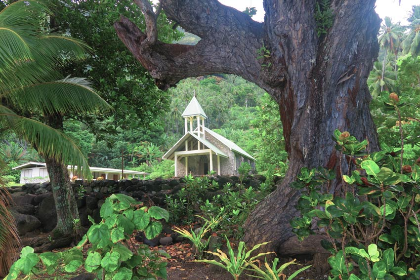 tahuata island day trip from hiva oa - marquesas island french polynesia - hapatoni church