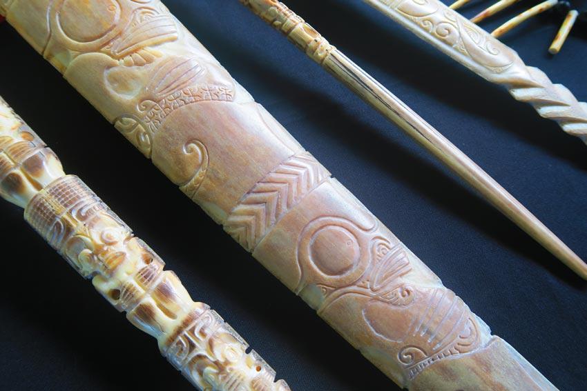 traditional bone weapon tahauata marquesas islands french Polynesia