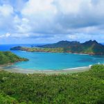 view of anaho bay from hike - nuku hiva marquesas islands