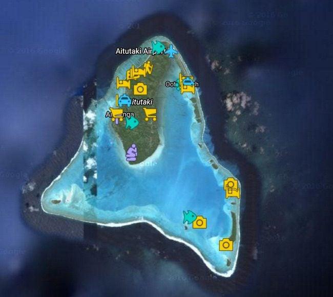 Aitutaki Travel Guide Map Cook Islands
