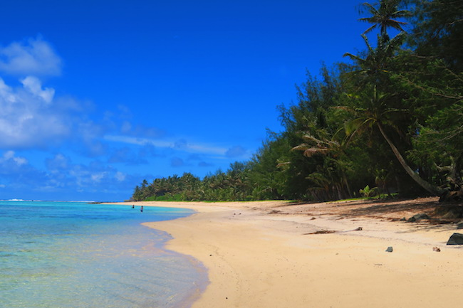 Aroa tropical beach Rarotonga Cook Islands