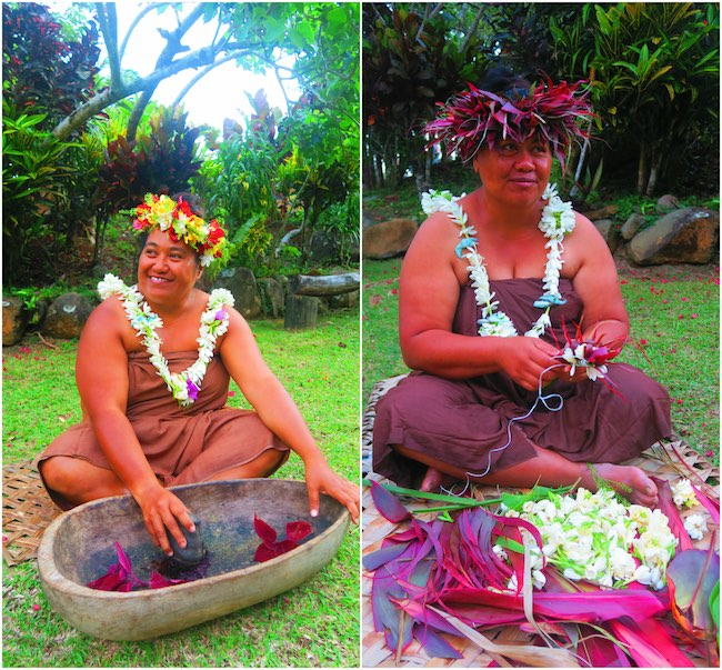 Highland Cultural Paradise Rarotonga Cook Islands - village tour ladies