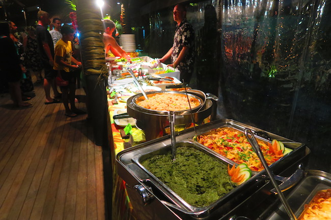 Island night Te Vara Nui Village rarotonga cook islands - buffet