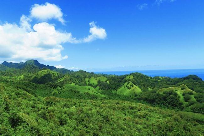 Mount Raemaru Track Rarotonga Cook Islands mountains and coast