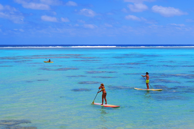 Paddleboard Muri Lagoon Rarotonga Cook Islands