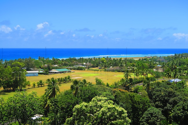 Panoramic view Rarotonga cook islands hospital lookout