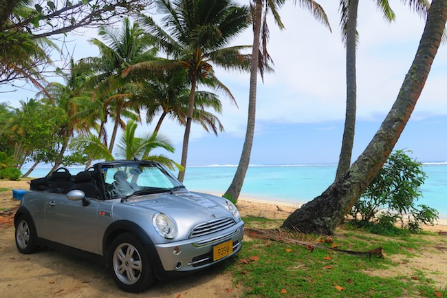 Polynesian Rentals - road trip rarotonga cook islands mini cooper