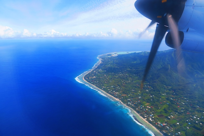 Rarotonga from the air Cook Islands