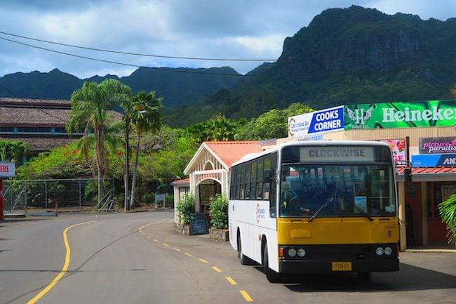 Rarotonga public bus transportation Cook Islands