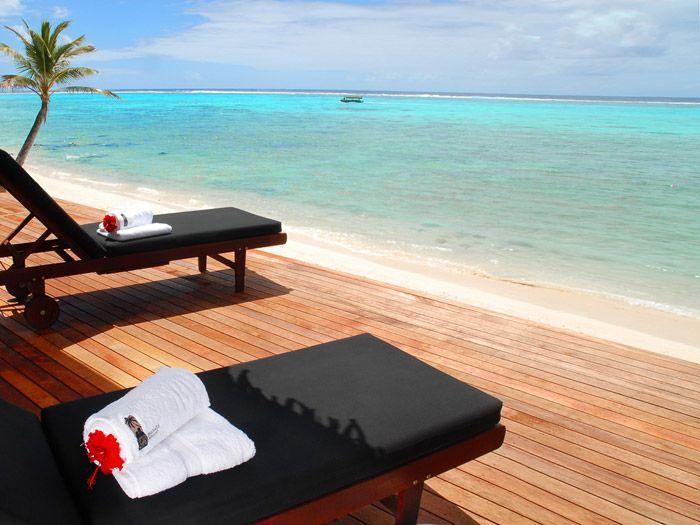 Rumours Waterfall Spa Rarotonga Cook Islands - beachfront deck