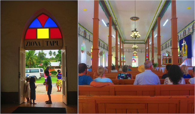 Sunday church service aitutaki cook islands