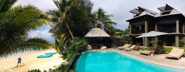 Te Vakaroa Villas review rarotonga cook islands - panoramic