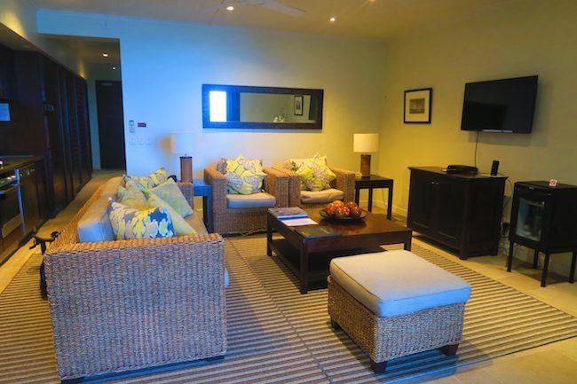 Te Vakaroa luxury villas rarotonga - living room interior view
