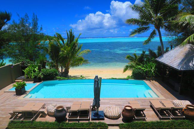 Te Vakaroa luxury villas rarotonga - two bedroom balcony view