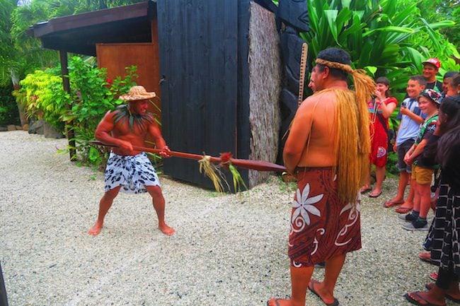 Te Vara Nui Village Rarotonga - village tour entrance