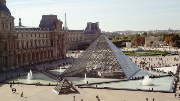 The Louvre In Paris Pyramid