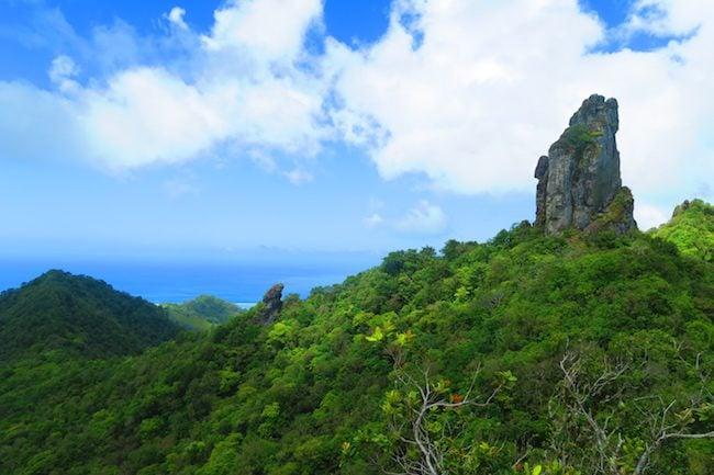 The Needle - cross island rack Rarotonga cook islands hiking