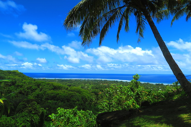 View of Rarotonga from Highland Cultural Paradise Cook Islands