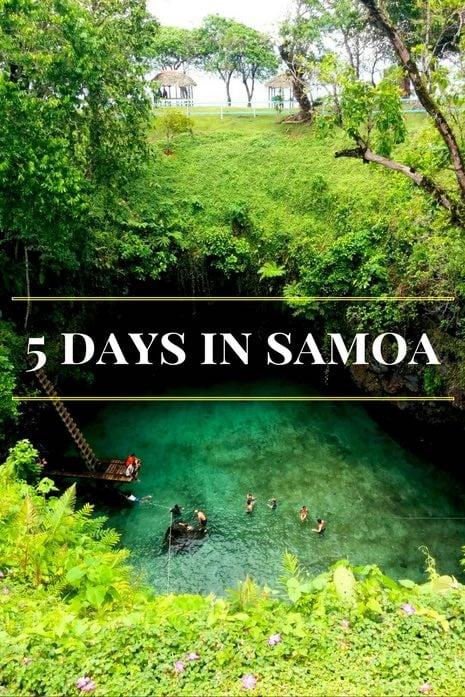 5 days in samoa