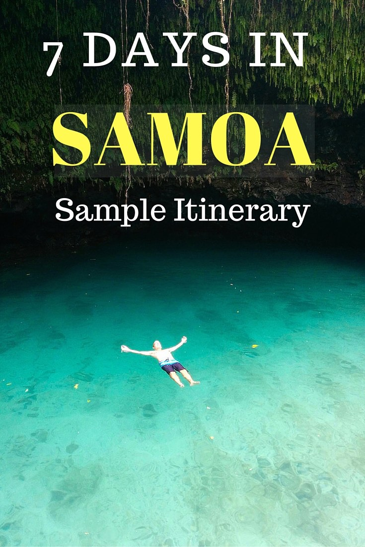 7 Days In Samoa - Pinterest Board Cover