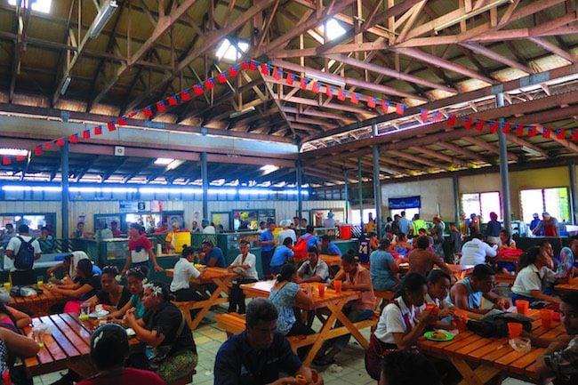 Apia flea market food court - samoa