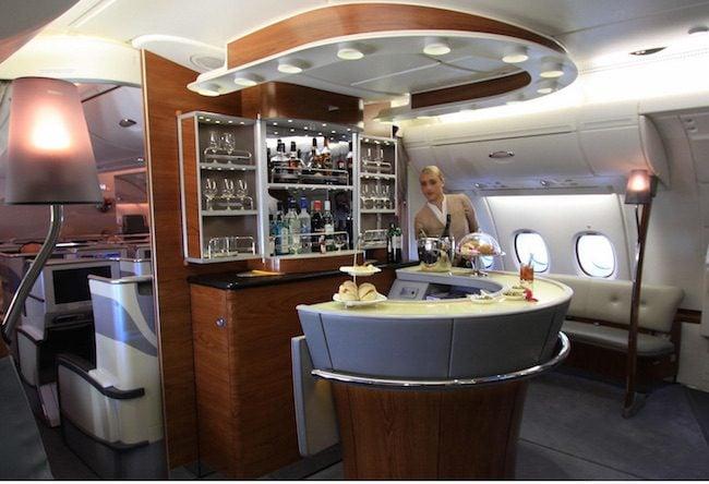 Emirates Business Class Bar