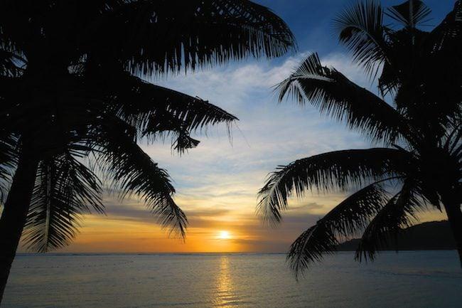Le Valasi's Beach Fales Samoa - sunset