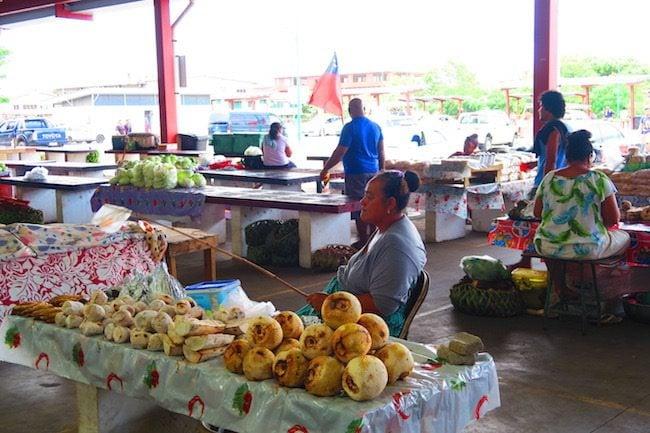 Maketi Fou Apia main market Samoa - samoan food