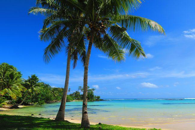 Matareva tropical beach Samoa