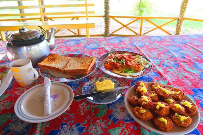 Namua Island Beach Fales Samoa - breakfast
