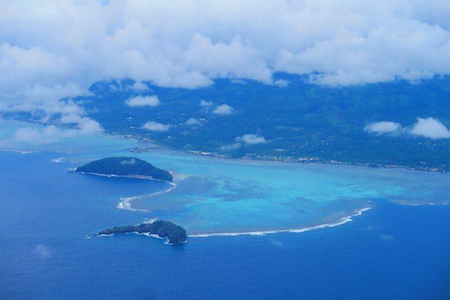 Namua Island Samoa aerial view