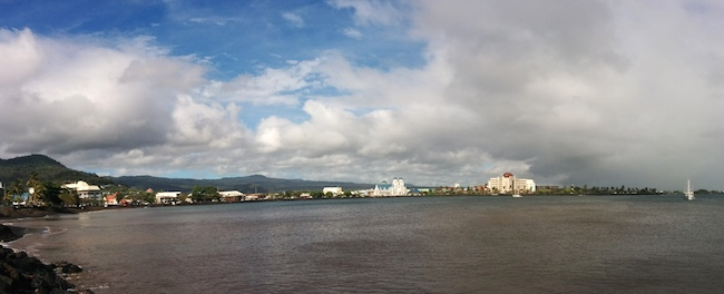 Panoramic view of Apia in Samoa