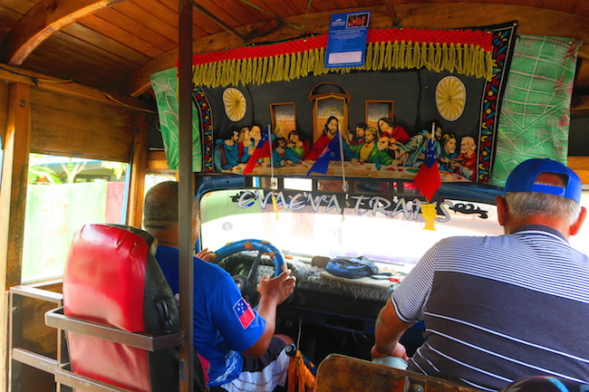 Riding Bus Samoa Interior
