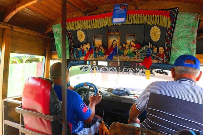 Riding Bus Samoa Interior